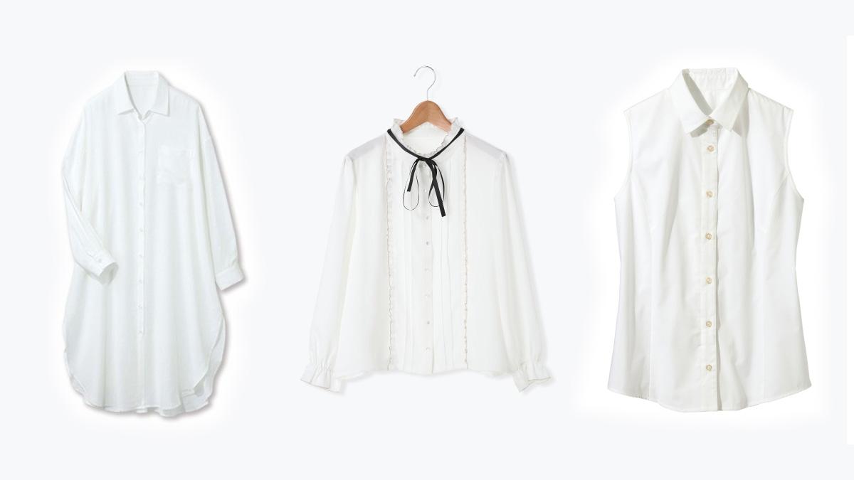春夏の白シャツ・ブラウスコーデ、ぽっちゃりでも大丈夫?シーン別に解説