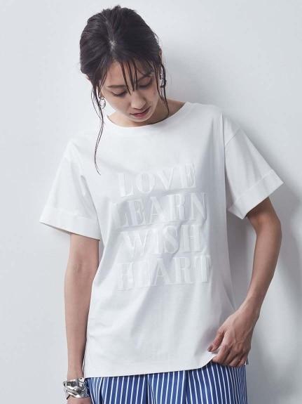 綿100%シルケット天竺半袖ロゴTシャツ