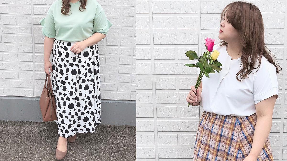 おしゃれぽっちゃりさんのしまむら夏コーデ、アベイル夏コーデ【30代・40代向け】