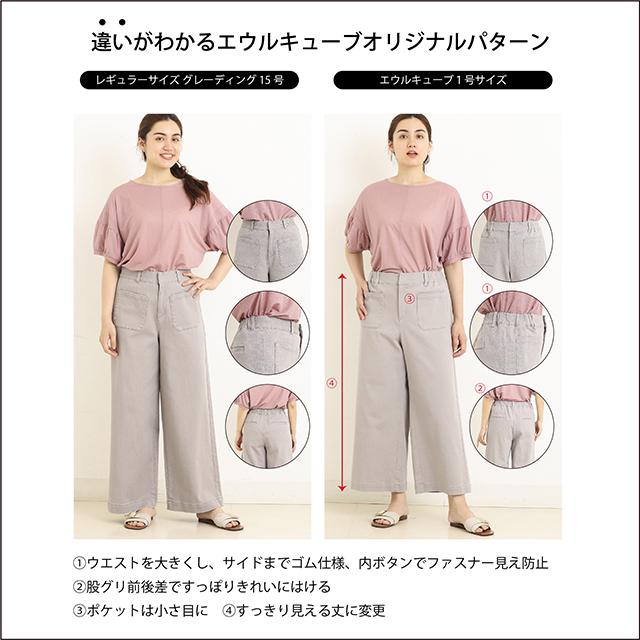 パンツはゴム、ポケット、股ぐり、丈が違う!