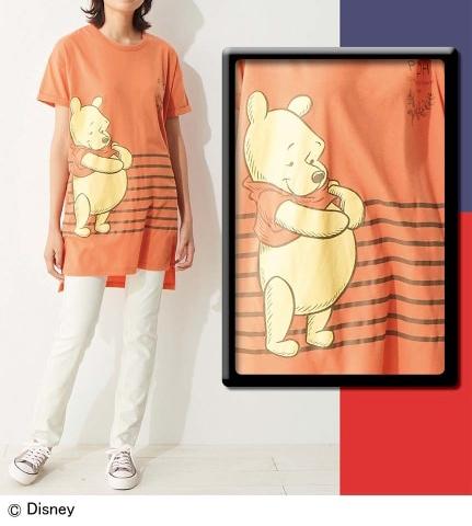大きいサイズ ビッグシルエットTシャツ/ディズニー