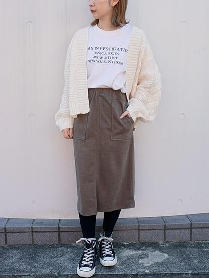 ニットスカートは丈感とシルエットで着瘦せ
