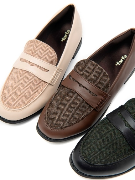 ヘリンボーンコインローファー【おじ靴】